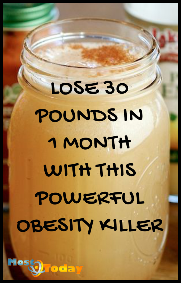 Lose 30 Pounds In 1 Month With This Powerful Obesity Killer