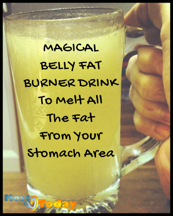 Magical Belly Fat Burner Drink To Melt All The Fat From Your Stomach Area
